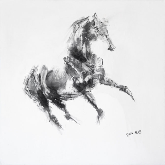 Equine Nude 5p drawing