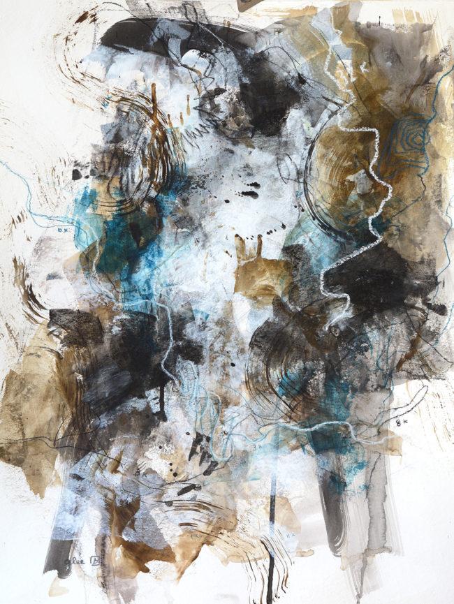 Trace mixed media painting