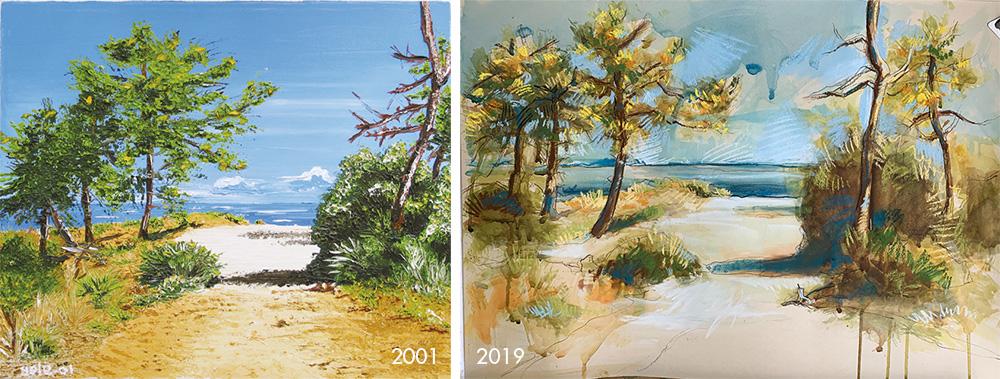Oleron landscape paintings