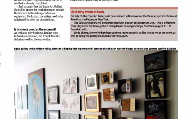 Equis Art Gallery, International Thoroughbred
