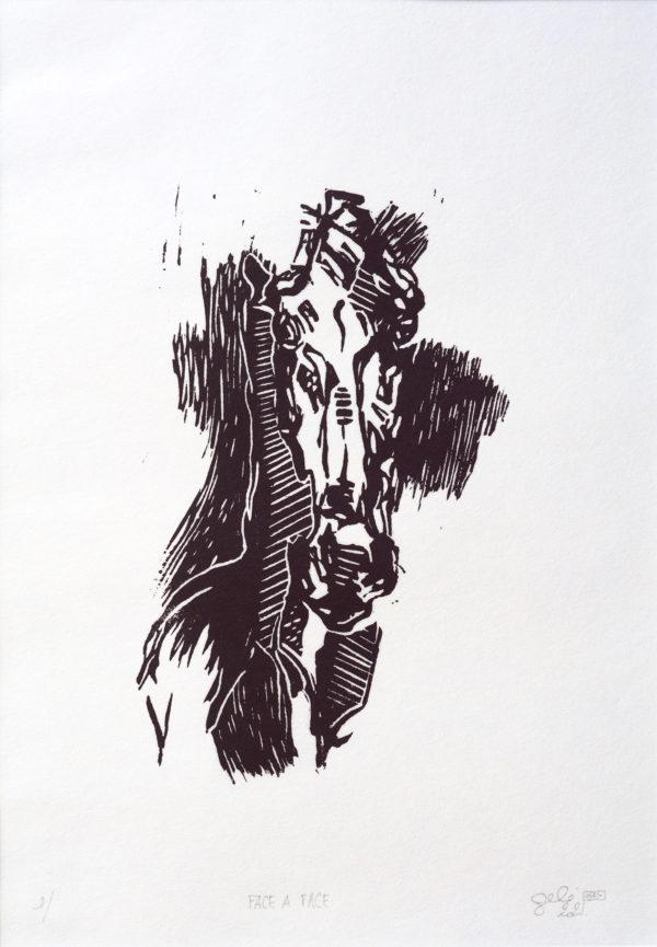 Horse Lino Print