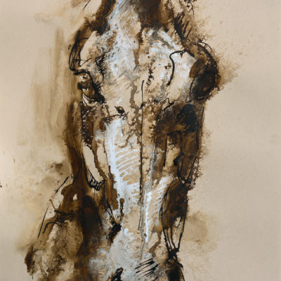 face to face 7a horse painting ink