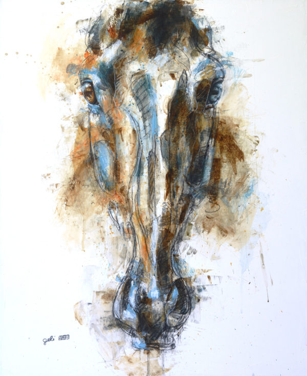 Face a Face 42t, horse painting